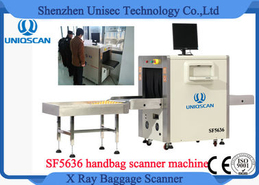 High Resolution Security X Ray Scanner , Small Baggage Scanning Machine With Roller Shelf